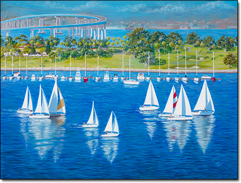 Coronado Regatta by Joan Hansen
