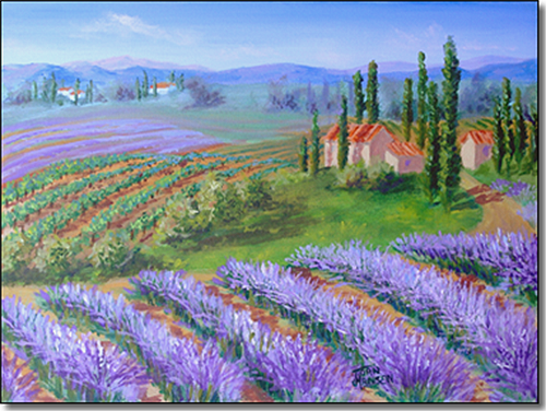 Lavender Near the Vineyard by Joan Hansen