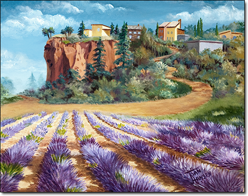Lavender Near Rousillon by Joan Hansen