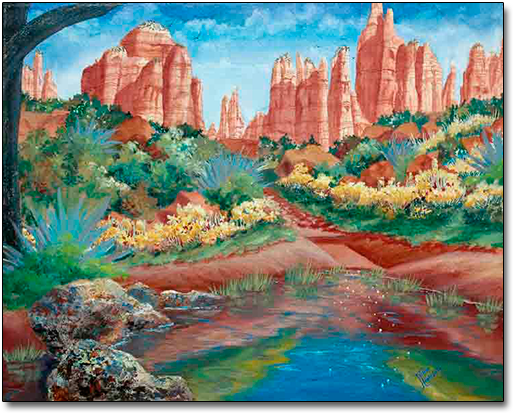 Oak Creek Canyon by Joan Hansen