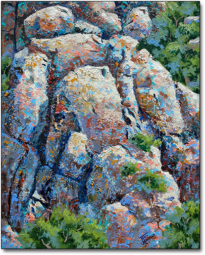 Rock Climbers at Mission Trails Park by Joan Hansen