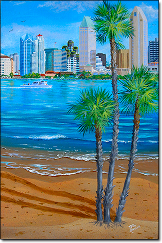San Diego Skyline by Joan Hansen